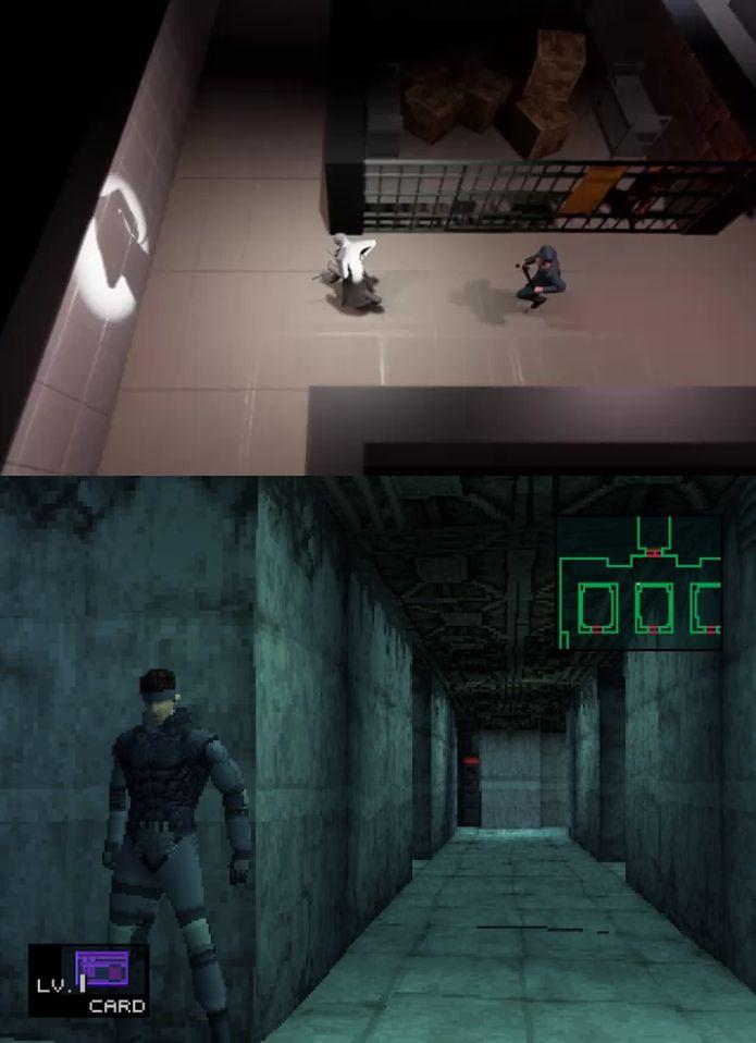 O jogo brasileiro RUN, apresentado na GDC 2015, e Metal Gear Solid, do primeiro PlayStation