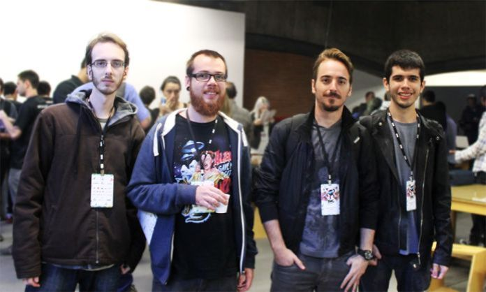 Gabriel Naro é o segundo da esquerda para a direita. Foto: Divulgação
